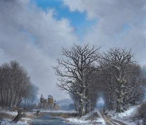 Image Source Page: http://www.jan-marque.com/ZGal7-Nieuwenroij.Castle.Oudheusden.in.a.winter.landscape.70x60cm.htm