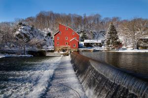 Image Source Page: http://fineartamerica.com/featured/winter-landscape-with-a-red-mill-clinton-new-jersey-george-oze.html