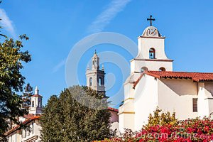 Image Source: http://www.dreamstime.com/stock-photography-steeples-white-adobe-mission-santa-barbara-cross-bell-california-image37855722